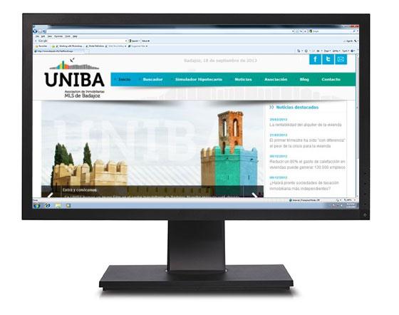 Captura de la web de UNIBA